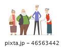 ベクトル 人々 人物のイラスト 46563442