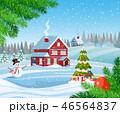 クリスマス バックグラウンド 背景のイラスト 46564837