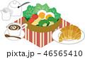 朝食 モーニング セットのイラスト 46565410