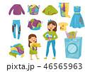 洗濯 洗濯物 ランドリーのイラスト 46565963