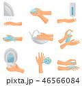 ベクトル 手 洗うのイラスト 46566084