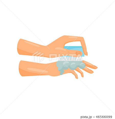 Washing hands with soap and brush, prevention of infectious diseases, health care and sanitation 46566099