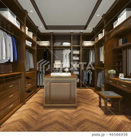 uxury scandinavian wood walk in closet  46566936