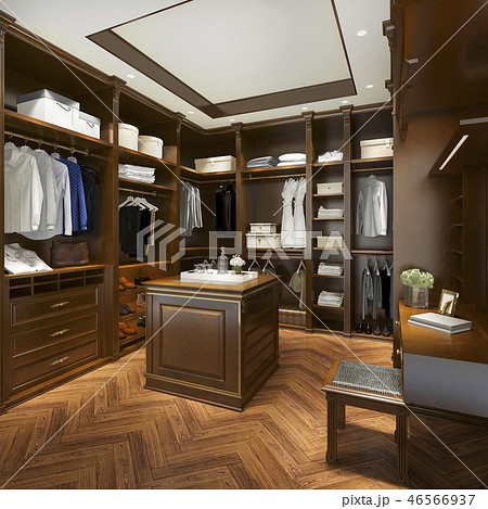 uxury scandinavian wood walk in closet  46566937
