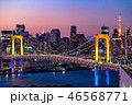 夜 アジア 都市風景の写真 46568771