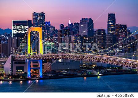 《東京都》東京ウォーターフロント・トワイライト夜景 46568830