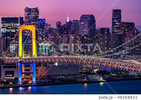 《東京都》東京ウォーターフロント・トワイライト夜景 46568831