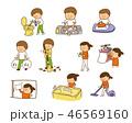 家事 生活 主婦のイラスト 46569160
