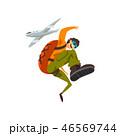 スカイダイビング ベクトル 空中のイラスト 46569744