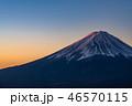 富士山 夜明け 富士の写真 46570115