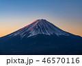 富士山 夜明け 富士の写真 46570116