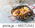 パエリヤ シーフード 魚介類の写真 46571541