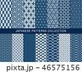 和柄 パターン 柄のイラスト 46575156