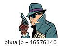 ガン 鉄砲 銃のイラスト 46576140