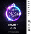 クリスマス ネオン ライトのイラスト 46576556