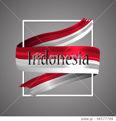 Indonesia flag. Official national colors.  46577799