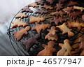 クッキー 洋菓子 クリスマスツリーの写真 46577947