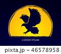 鳥 シンボルマーク ロゴのイラスト 46578958