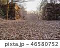 城跡 石垣 夕景の写真 46580752