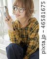 カメラ メガネ 女性の写真 46581675