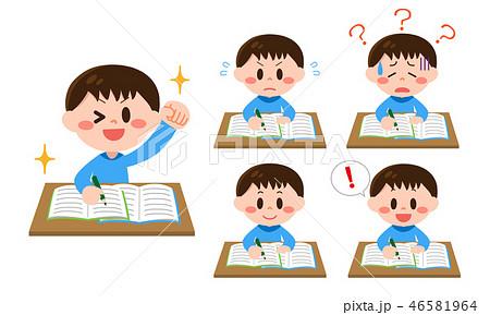 勉強する男の子 46581964