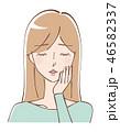 女性 美容 ビューティーのイラスト 46582337