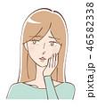 女性 美容 ビューティーのイラスト 46582338