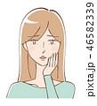 女性 美容 ビューティーのイラスト 46582339