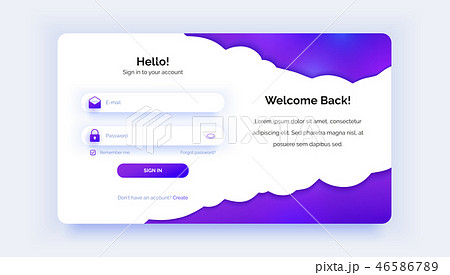 The login page. Purple gradient. Sign in form. 46586789