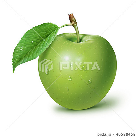 Green Apple isolated on white background 46588458