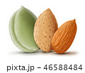 Almonds isolated on white background 46588484
