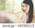 女性 若い女性 ファンデーションの写真 46589213