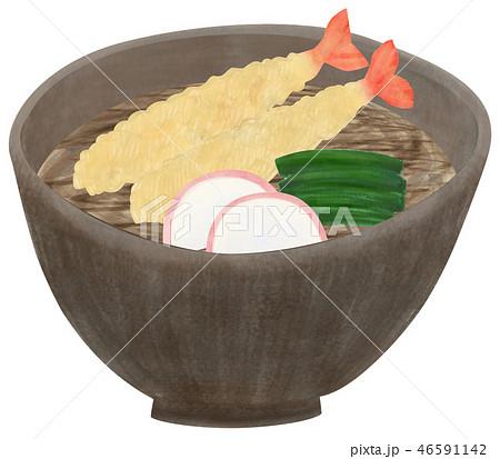 手描き 蕎麦 そば  46591142