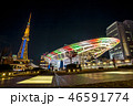 都市風景 ビル ネオンの写真 46591774