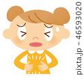 子供 ベクター 腹痛のイラスト 46593020