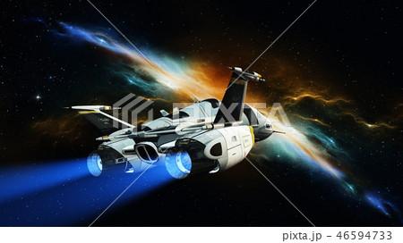 宇宙船のイラスト素材 46594733 Pixta