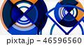 抽象的 円 ベクターのイラスト 46596560