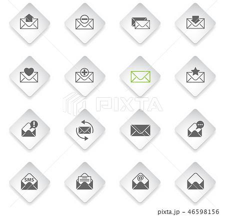 envelope icon set 46598156