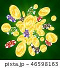 チップス 小銭 ギャンブルのイラスト 46598163