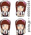 表情 ベクター メイドのイラスト 46600164