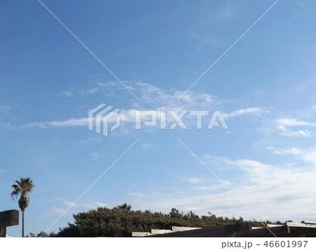 稲毛海岸の青空と白い雲 46601997
