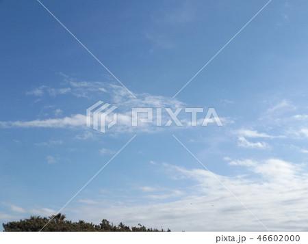 稲毛海岸の青空と白い雲 46602000