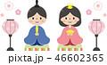 お雛様 雛人形 お内裏様のイラスト 46602365