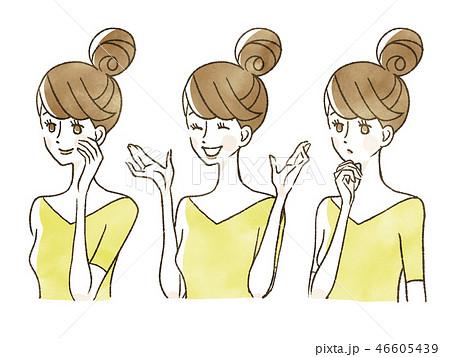 女性-表情 46605439