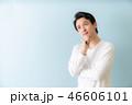考える 男性 アジア人の写真 46606101
