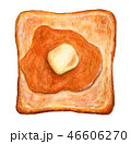 パン 食パン トーストのイラスト 46606270