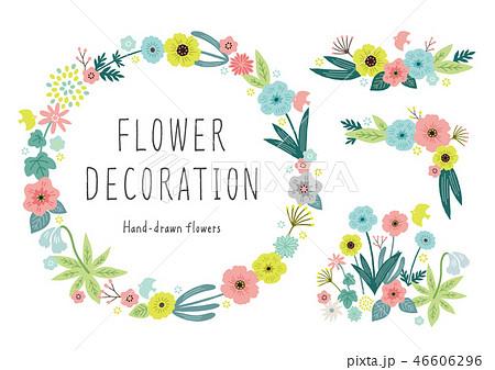花色々フレーム優しい色 46606296