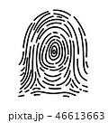 シンプルな指紋 46613663