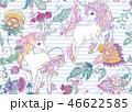 ユニコーン パターン 柄のイラスト 46622585