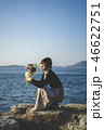 女性 海 人物の写真 46622751